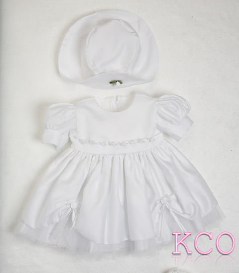 York flower Dress White ~ girls dress